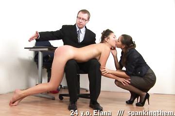Босс наказал горничную поркой